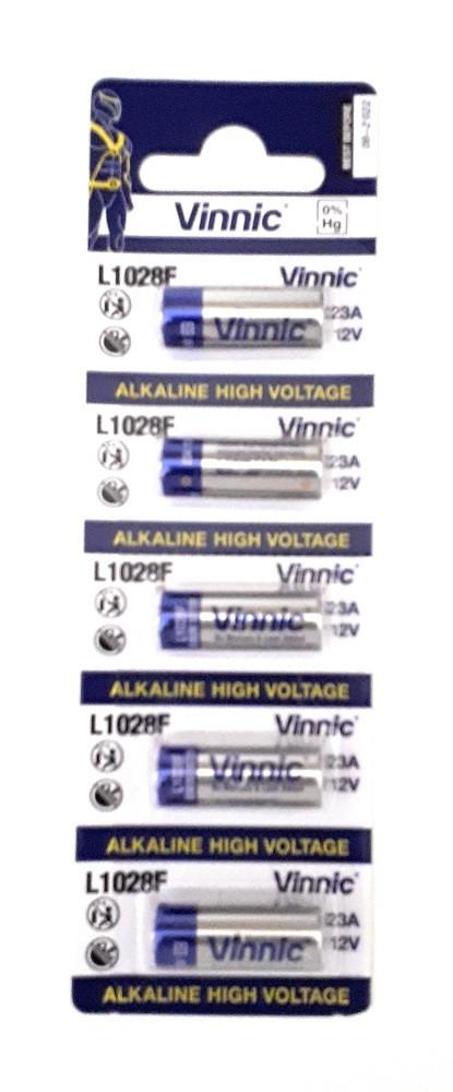 Blister 5 Pilas 23A Alcalina 12V L1028b Vinnic