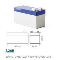 Batería 12v 1,2Ah para motores puerta garaje