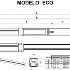 Medva ECO BAC 280 motor batiente hidráulico