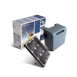 Kit placa solar alimentación motor puerta garaje NICE Solemyo