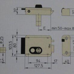 Viro V97 cerradura electrica