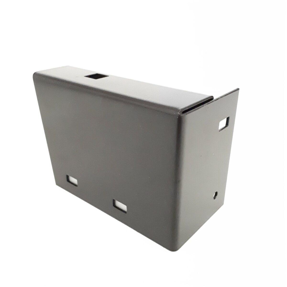 Visera protector metal para sensor de fotocélula reflexión